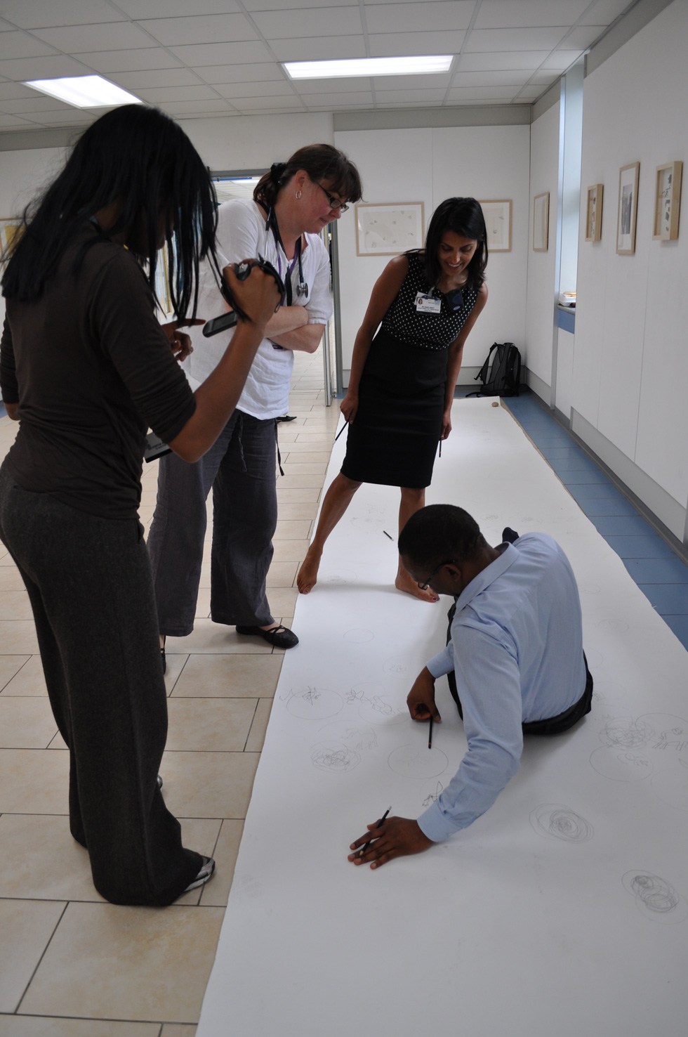 Drawing Examination, 2011, Elixir Gallery, Queen Elizabeth Hospital, Woolwich. Photo: Angela Hodgson-Teall